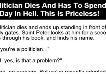 A Politician Dies And Has To Spend Just One Day In Hell