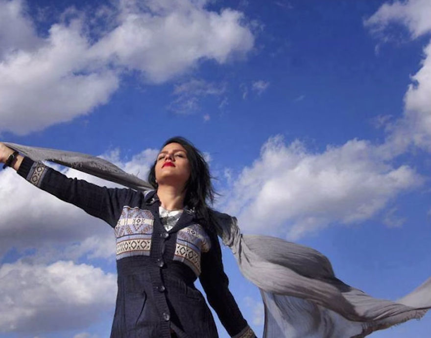 """Iranian Women Are Posting Pics With Their Hair Flying Free In Protest Of Strict Hijab Laws - """"It's an amazing feeling when wind tangles your hair under the blue sky."""""""