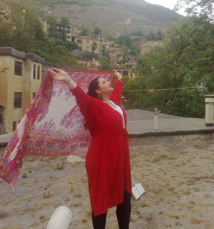 """Iranian Women Are Posting Pics With Their Hair Flying Free In Protest Of Strict Hijab Laws - """"It's sad that my pretty black hair's going grey and it hasn't seen the wind, sun or rain yet."""""""