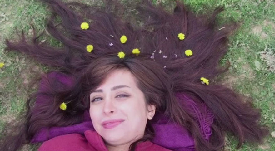 """Iranian Women Are Posting Pics With Their Hair Flying Free In Protest Of Strict Hijab Laws - """"Let It Go"""""""