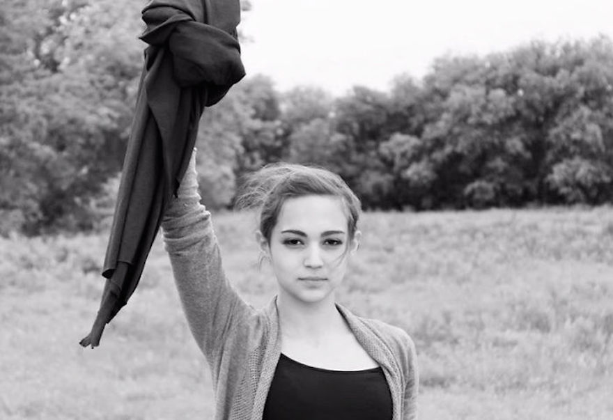 """Iranian Women Are Posting Pics With Their Hair Flying Free In Protest Of Strict Hijab Laws - """"My Stealthy Freedom"""""""