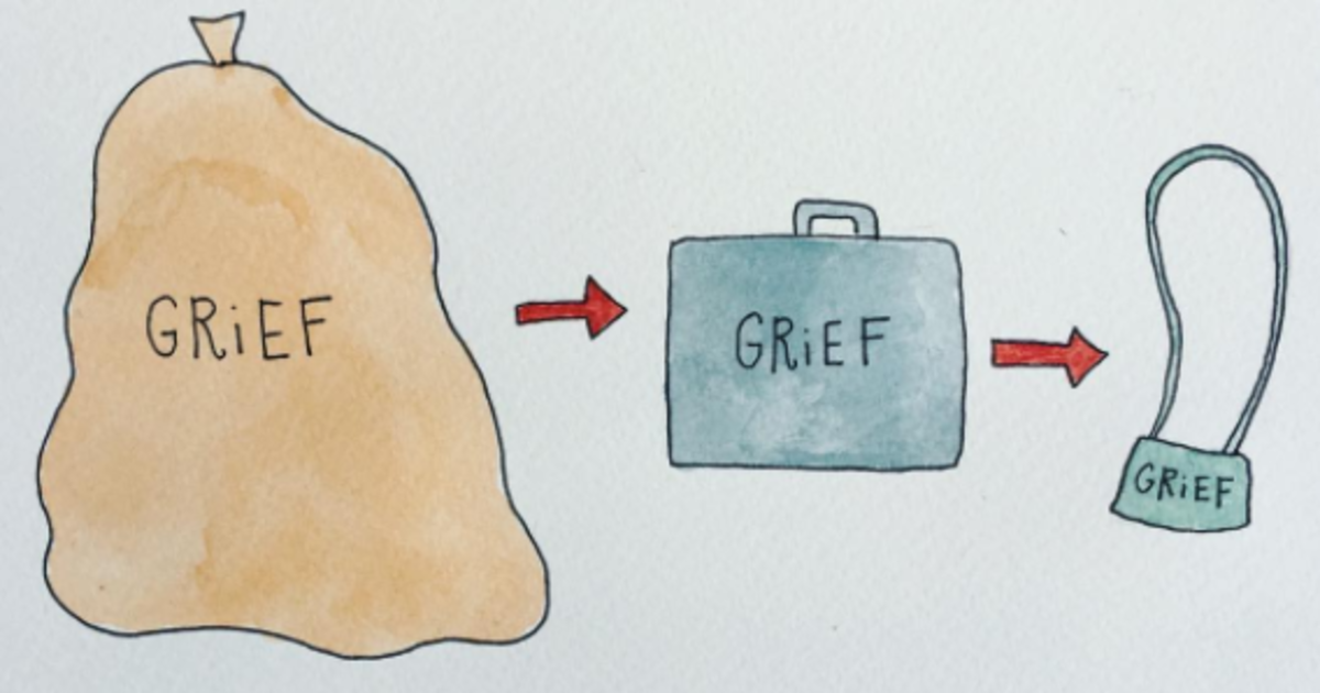 These Illustrations Totally Nail How Difficult The Grief Process Is