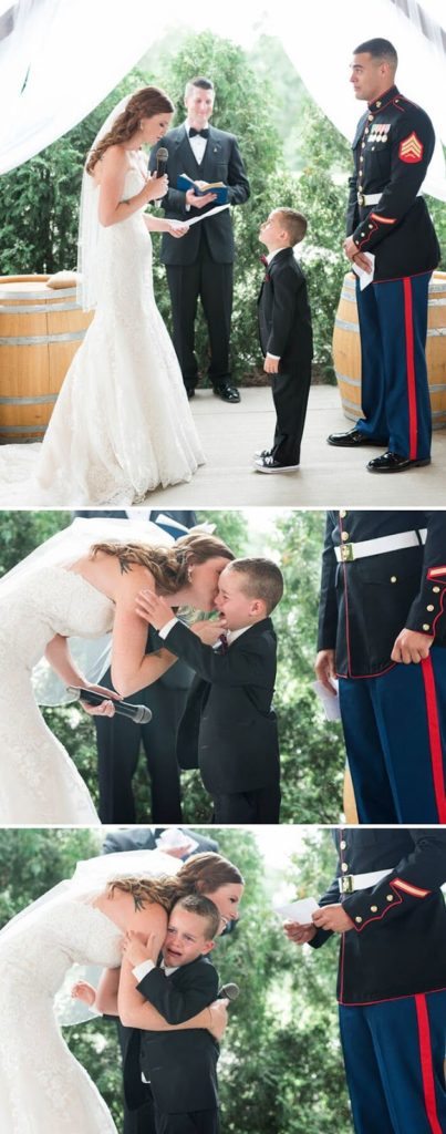 'Life Gave Me The Gift Of You' - Marine's 4-Year-Old Son Cries Tears Of Joy After Hearing New Step-Mom's Vows For Him