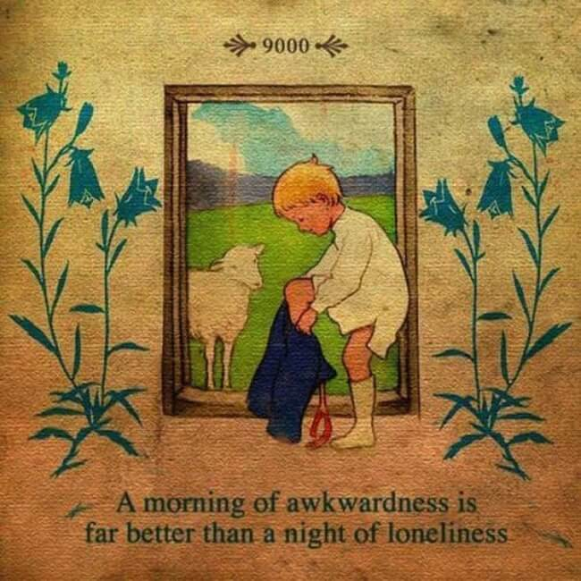 #1. I Would Prefer A Night Of Loneliness Then.