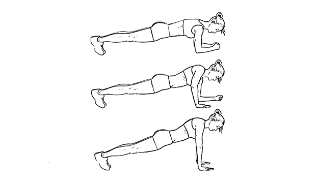 1. Up-Down Plank