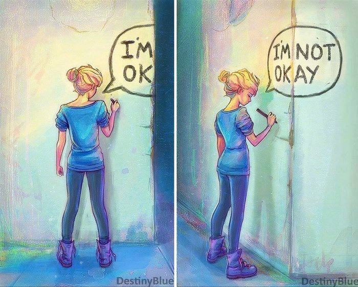 10+ Deep Illustrations By An Artist Who Understands The Reality Of Depression
