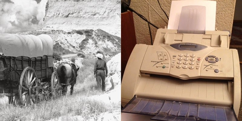 10. The fax machine was invented the same year people were traveling the Oregon Trail.