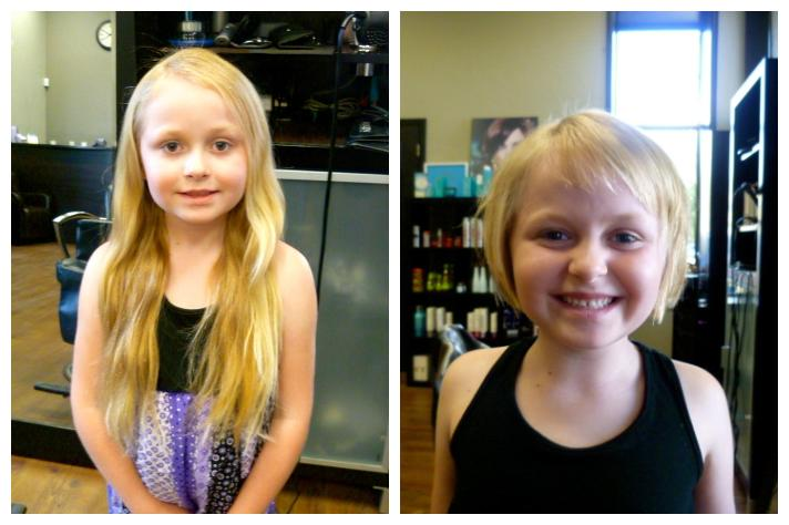 12. 'My 6-year-old daughter cut off over 13 inches of her hair to donate to charity!'