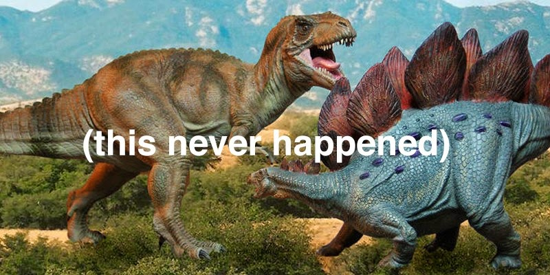 19. There was more time between the Stegosaurus and the Tyrannosaurus Rex than between the Tyrannosaurus Rex and you.