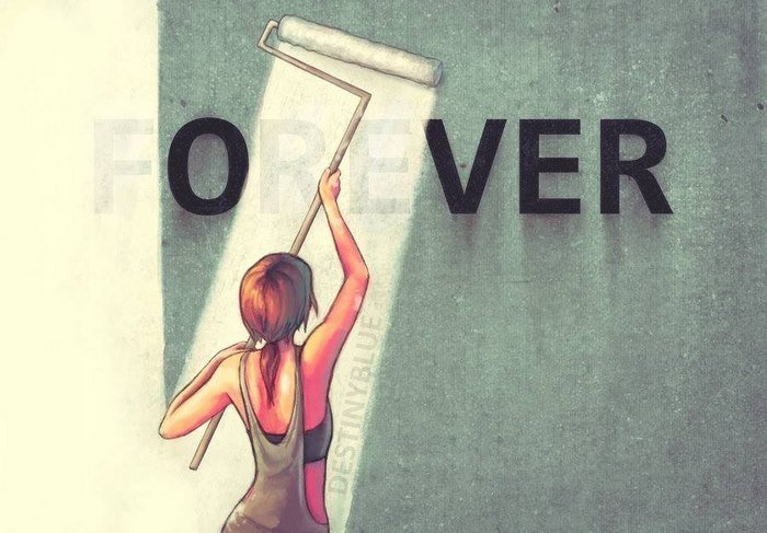 #2. Forever is over.