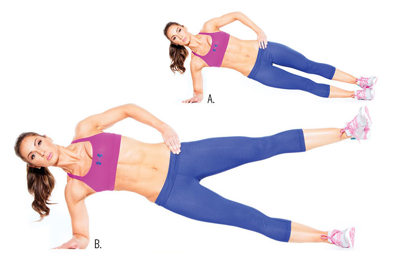 3. Side Plank Leg Lift