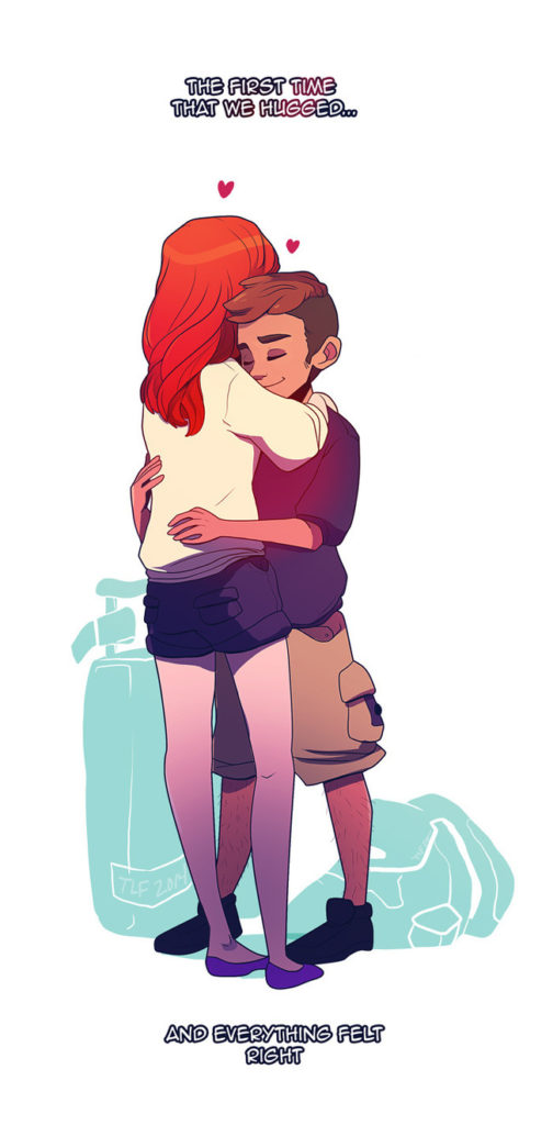 7. The first time that we hugged...