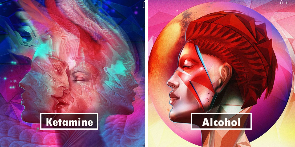 Artist Takes 20 Different Drugs And Creates 20 Illustrations To Show Drug Effects And Results Are Eye Opening