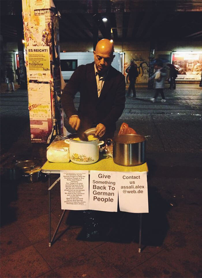Syrian Refugee Hands Out Food To Homeless In Germany To 'Give Something Back'