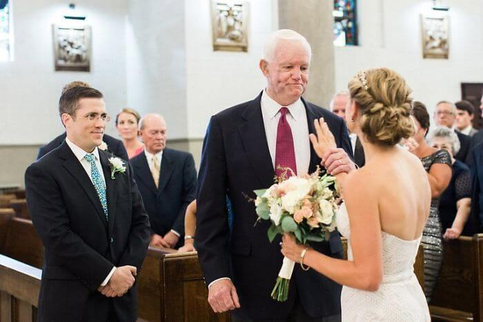 The Bride's Father Died Ten Years Ago And His Heart Was Donated. The Man Who Received The Transplant Walked Her Down The Aisle
