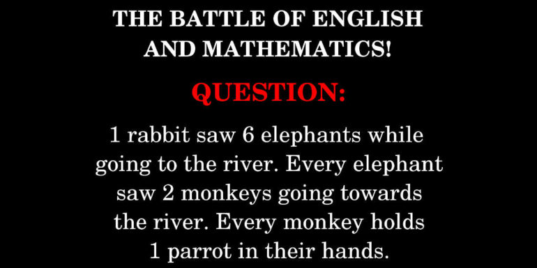 the battle of english and mathematics featured