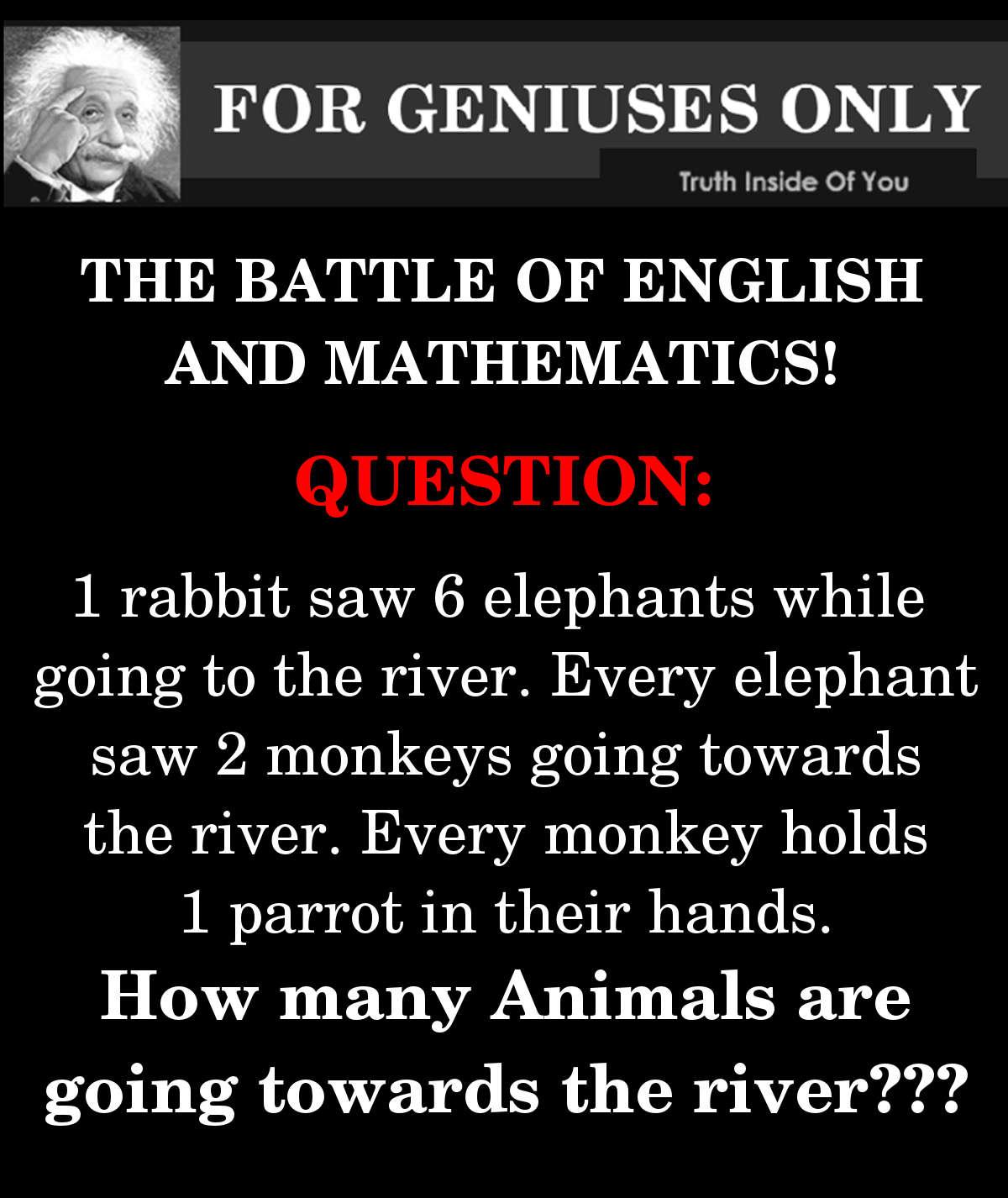 the battle of english and mathematics