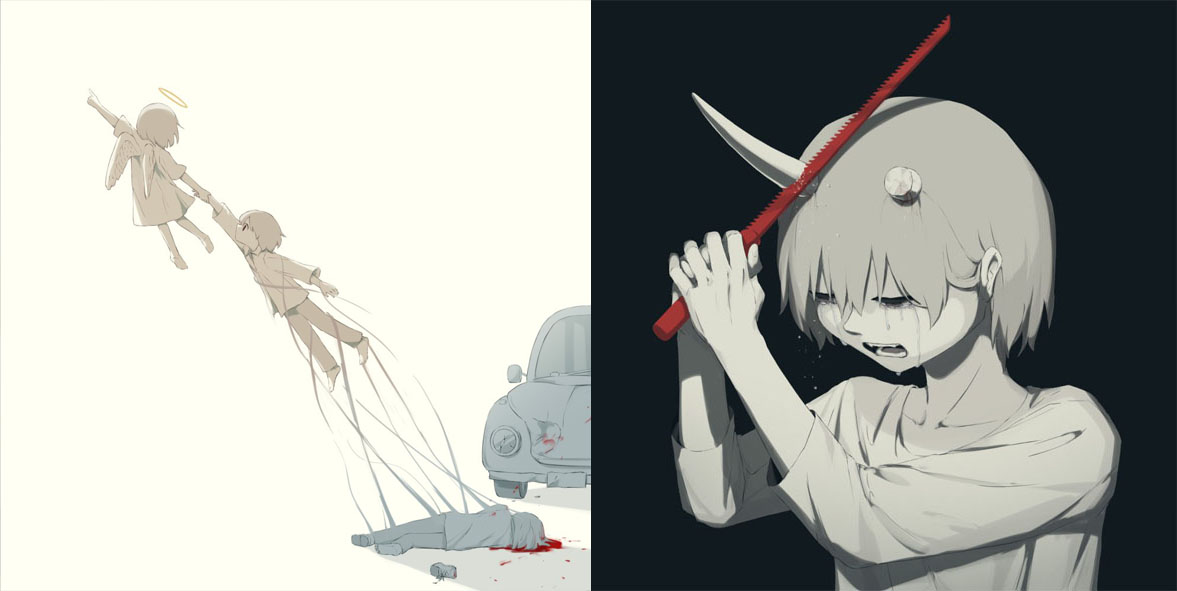 30+ Meaningful Illustrations By Japanese Artist Will Provoke Your Strong Emotions