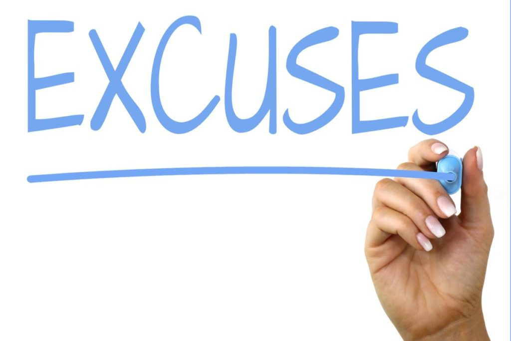4. Excuses, and Some More