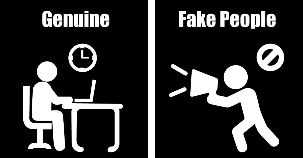 6 Differences Between Fake And Genuine People