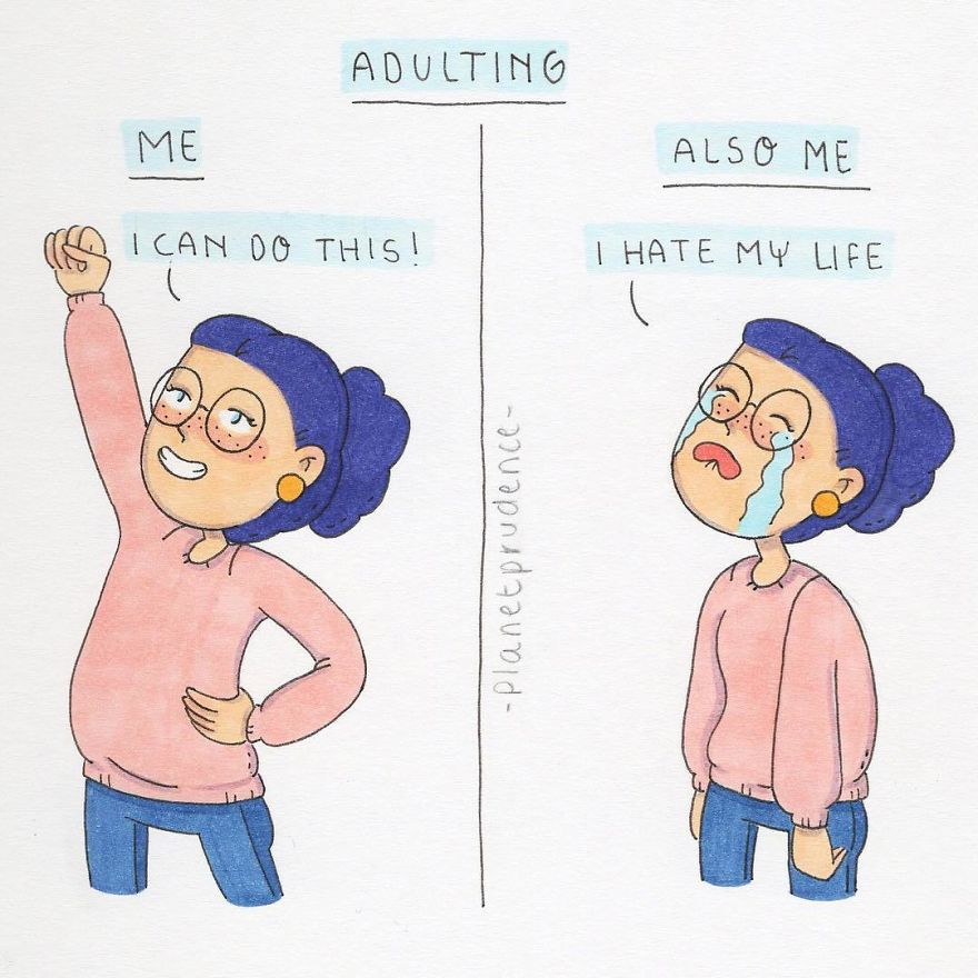 Artist's Funny Illustrations Show The Importance Of Having Self-Confidence That Are Too Relatable-19