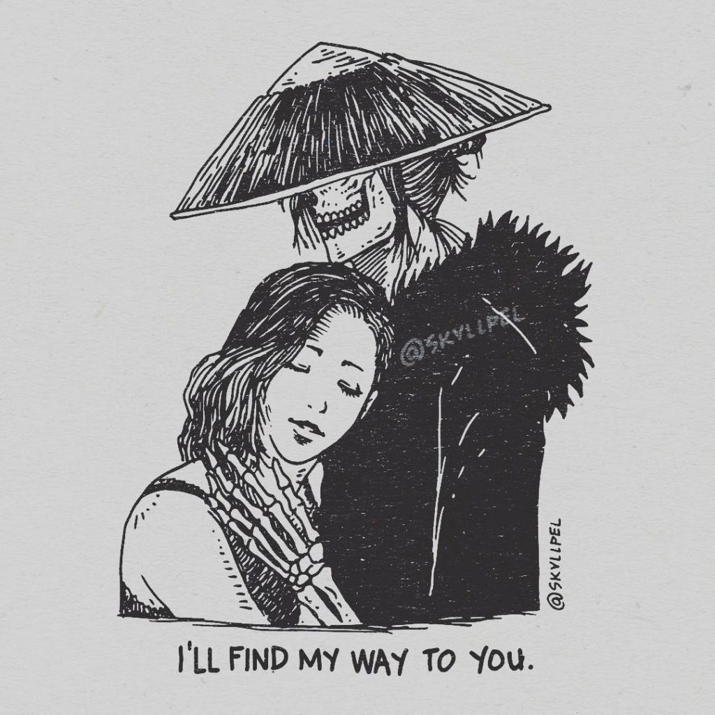 Artist's Skeletal Illustrations Show The Glimpse Of Intense Love With Beautiful Messages-1