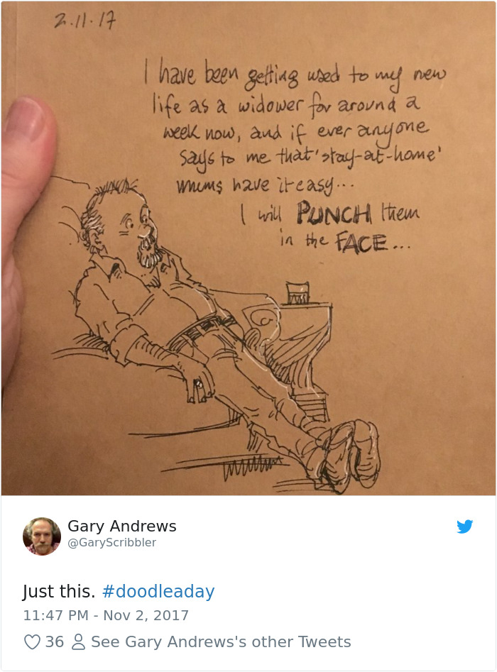 Disney Artist Illustrates Life With Two Children After His Wife Passes Away-11