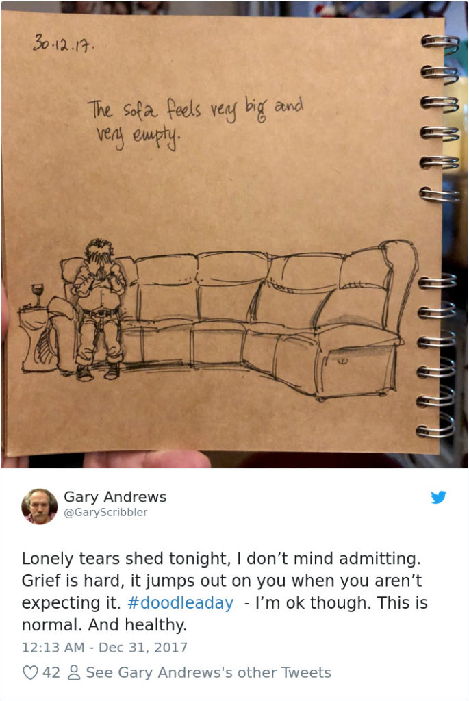 Disney Artist Illustrates Life With Two Children After His Wife Passes Away-13