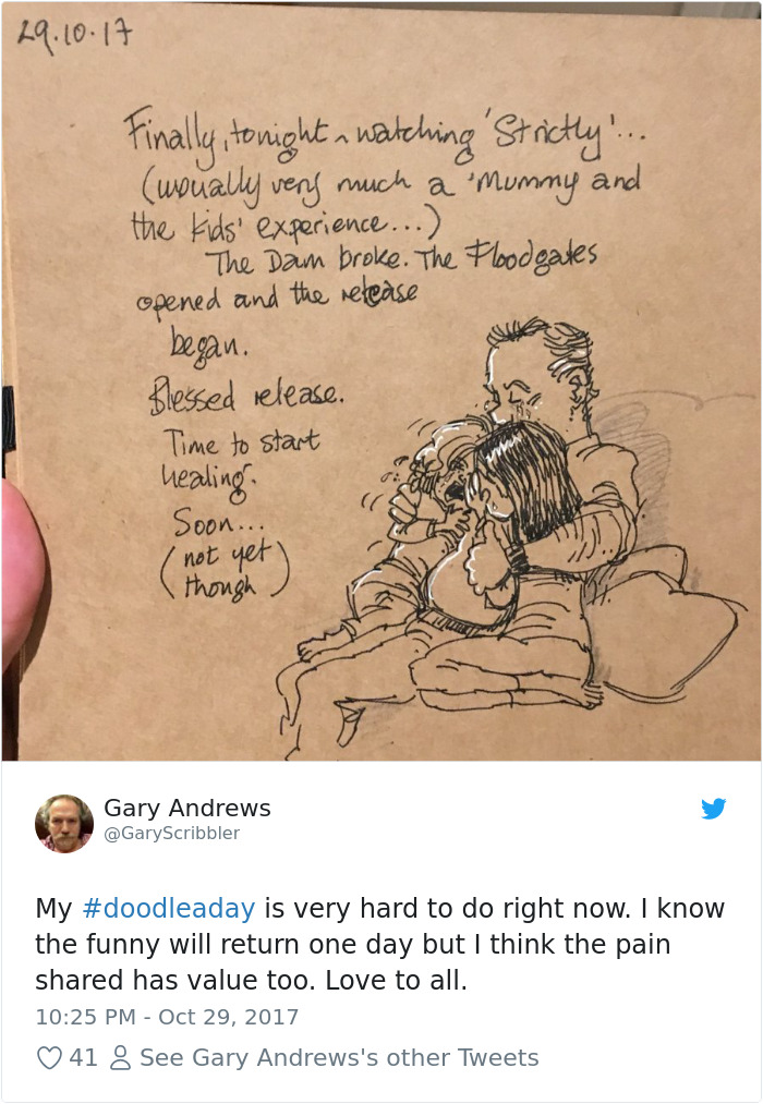 Disney Artist Illustrates Life With Two Children After His Wife Passes Away-17