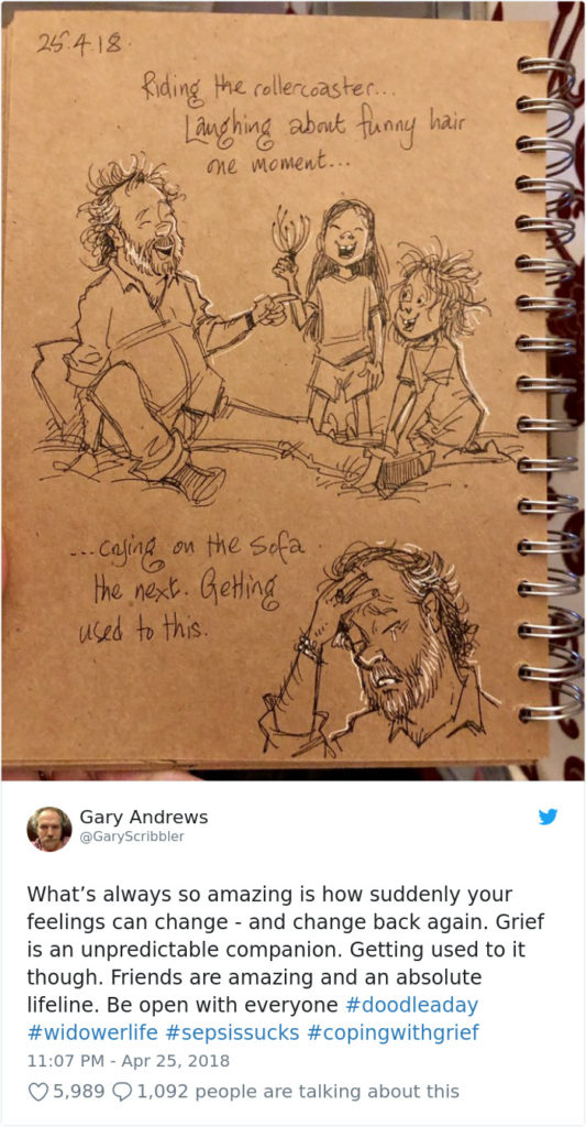 Disney Artist Illustrates Life With Two Children After His Wife Passes Away-19