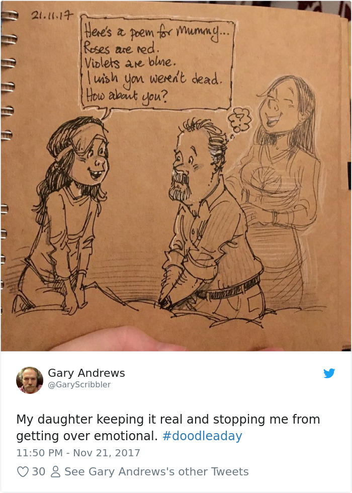 Disney Artist Illustrates Life With Two Children After His Wife Passes Away-2