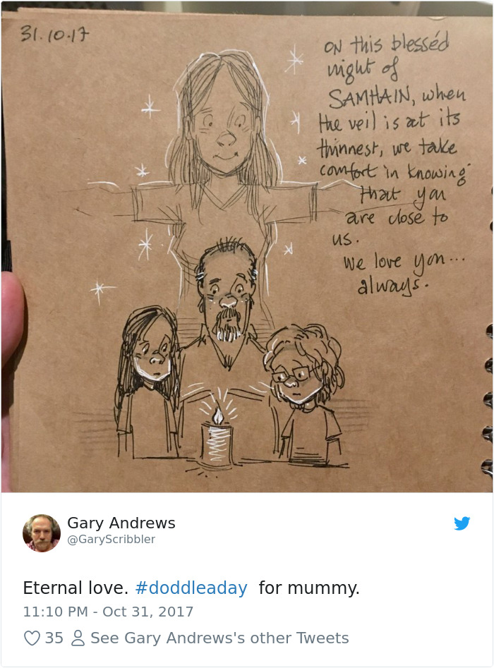 Disney Artist Illustrates Life With Two Children After His Wife Passes Away-22