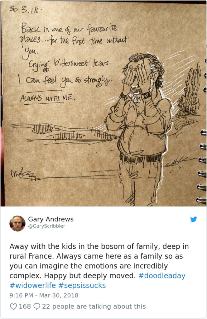 Disney Artist Illustrates Life With Two Children After His Wife Passes Away-23