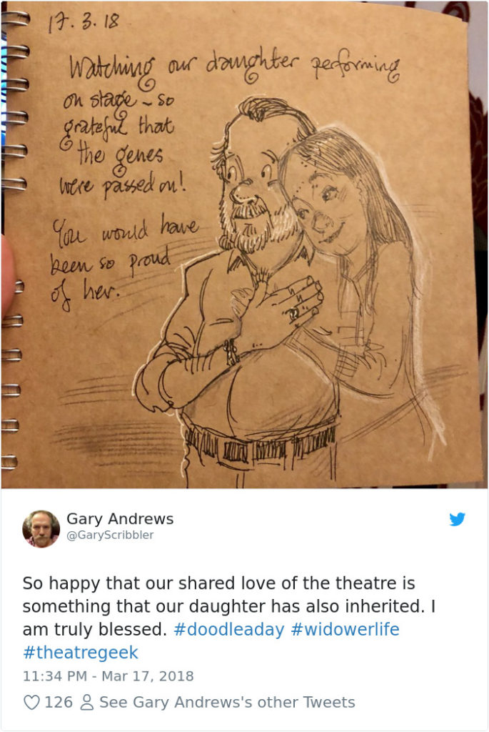 Disney Artist Illustrates Life With Two Children After His Wife Passes Away-26