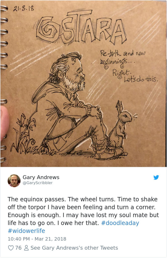 Disney Artist Illustrates Life With Two Children After His Wife Passes Away-27