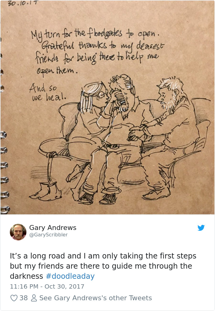 Disney Artist Illustrates Life With Two Children After His Wife Passes Away-29