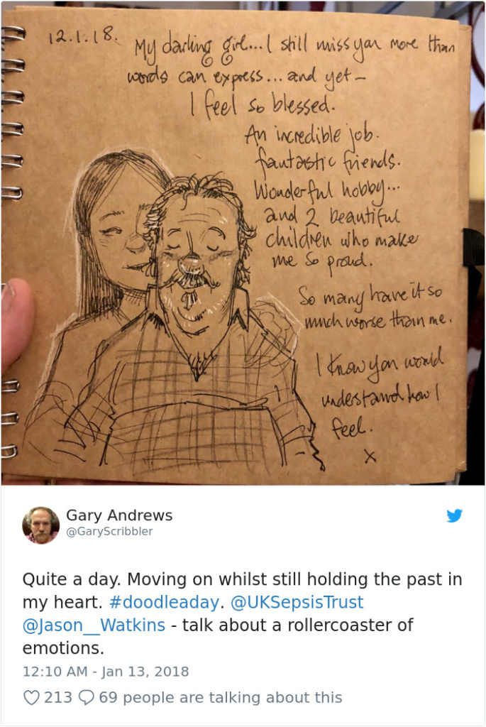 Disney Artist Illustrates Life With Two Children After His Wife Passes Away-30