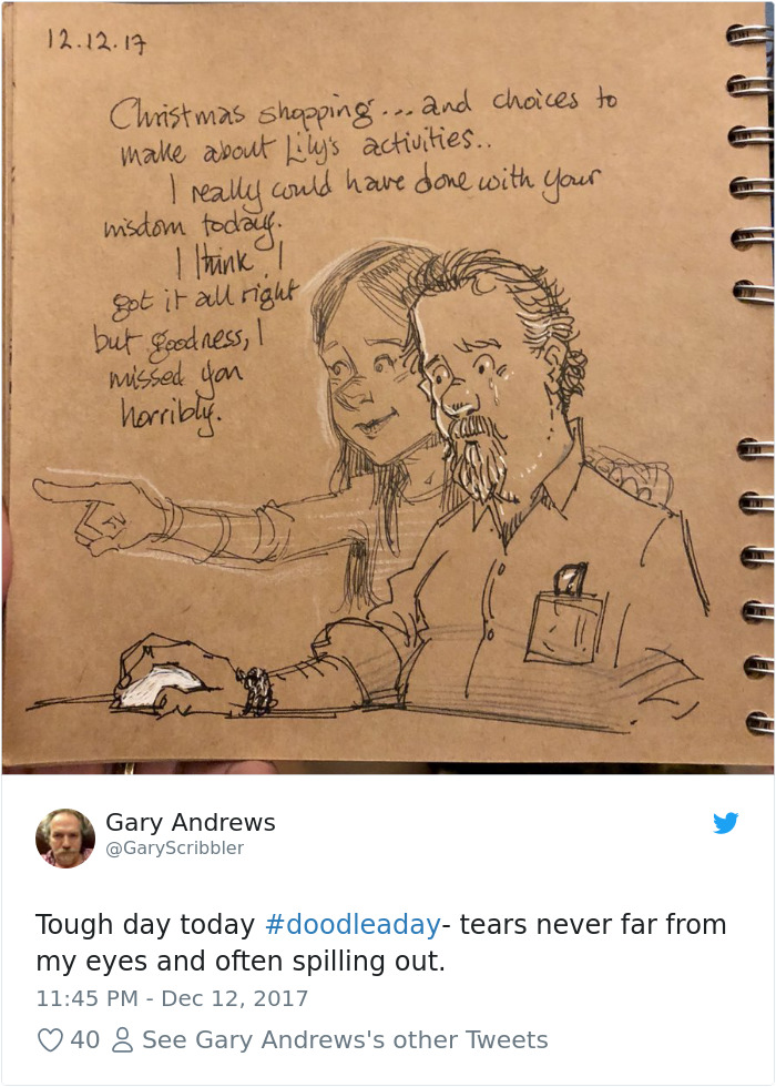 Disney Artist Illustrates Life With Two Children After His Wife Passes Away-31