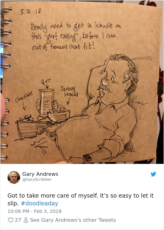Disney Artist Illustrates Life With Two Children After His Wife Passes Away-32