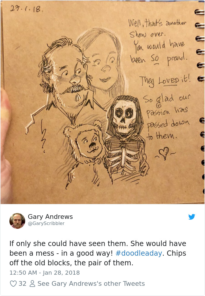 Disney Artist Illustrates Life With Two Children After His Wife Passes Away-33
