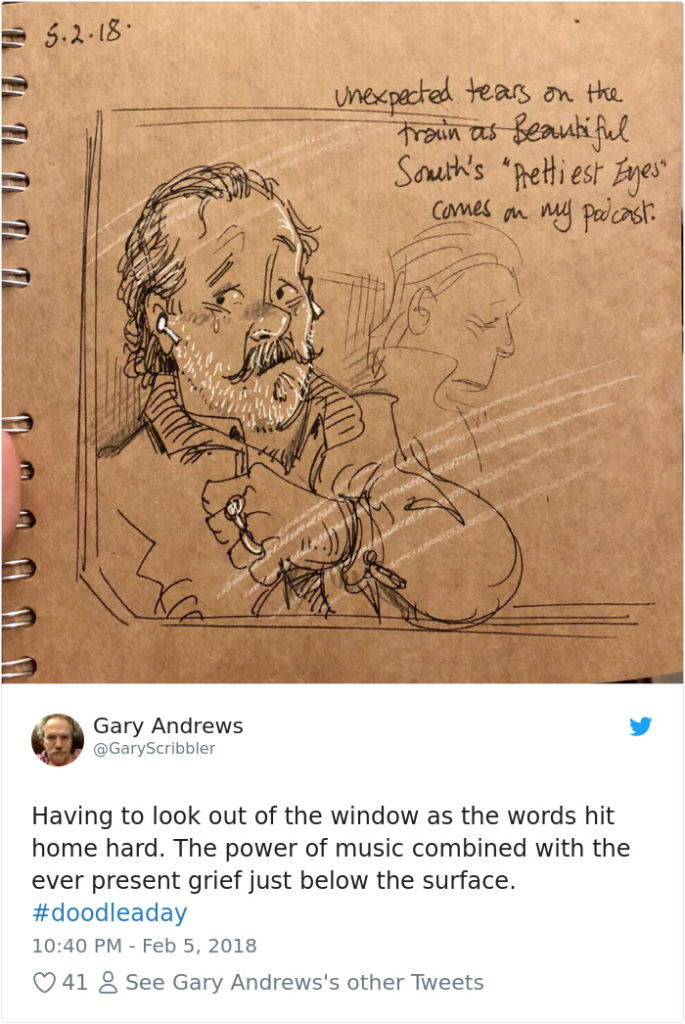 Disney Artist Illustrates Life With Two Children After His Wife Passes Away-35