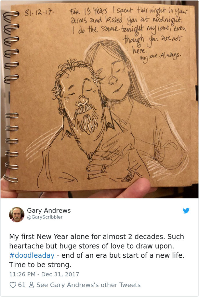 Disney Artist Illustrates Life With Two Children After His Wife Passes Away-36