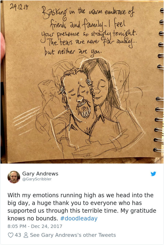 Disney Artist Illustrates Life With Two Children After His Wife Passes Away-37