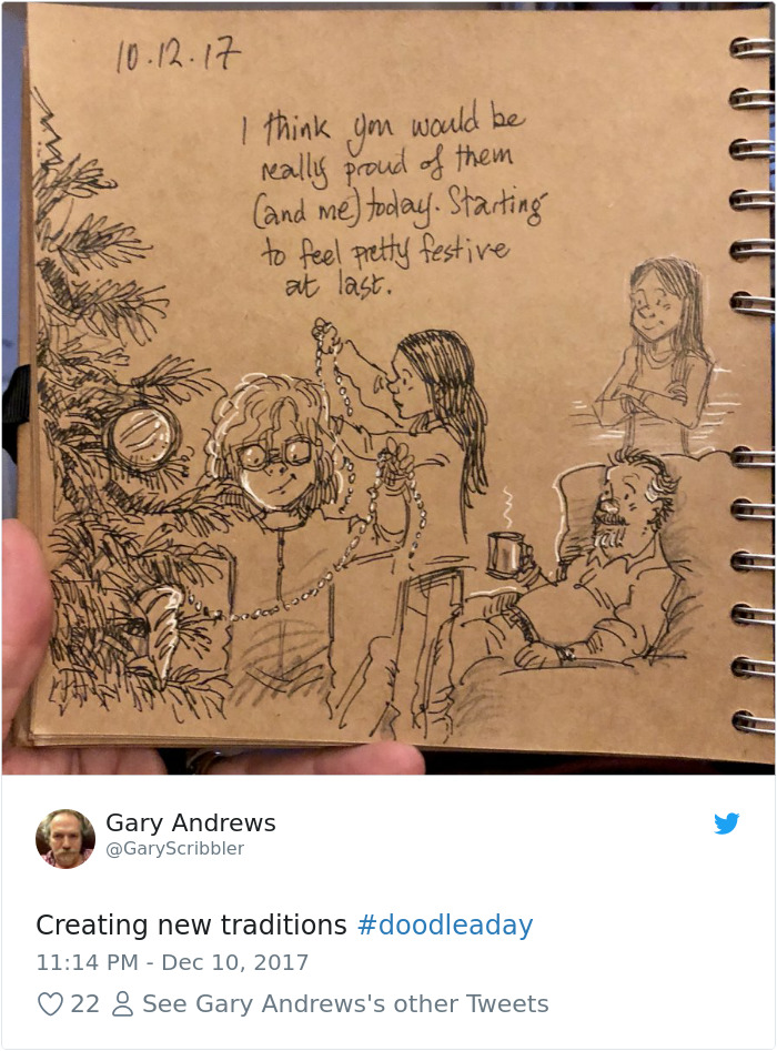 Disney Artist Illustrates Life With Two Children After His Wife Passes Away-38