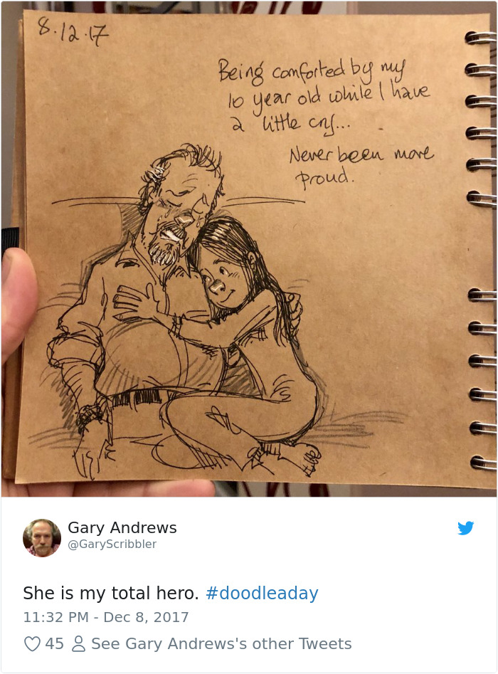 Disney Artist Illustrates Life With Two Children After His Wife Passes Away-4