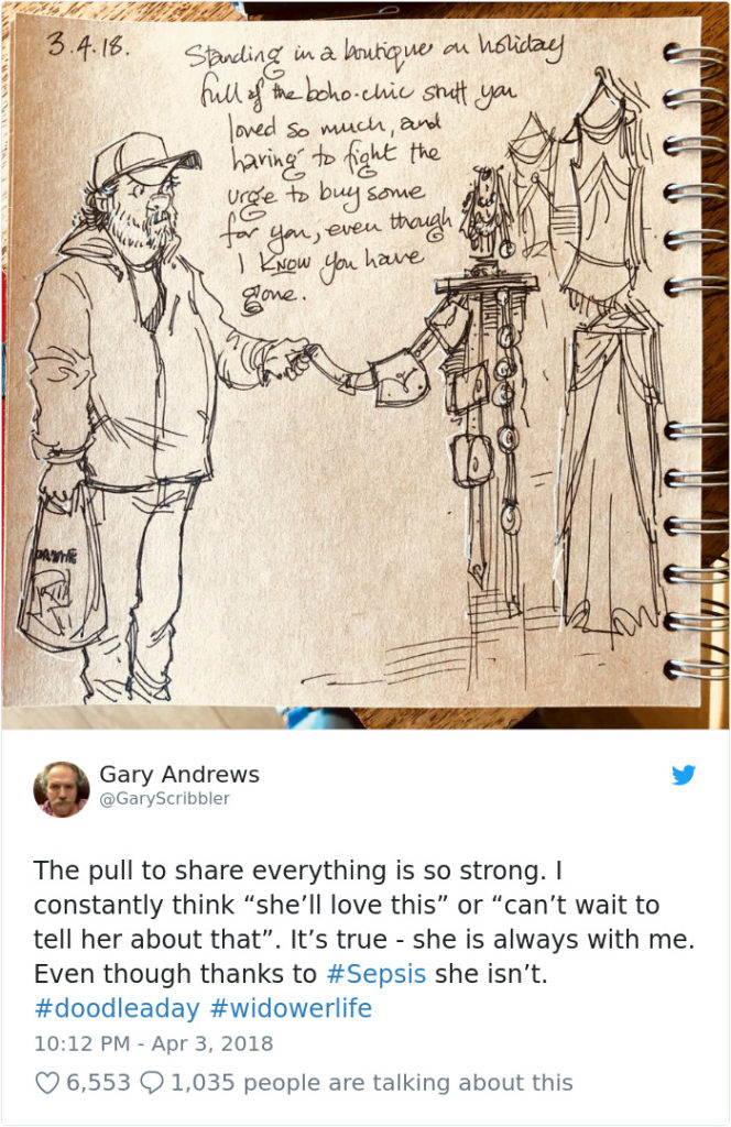 Disney Artist Illustrates Life With Two Children After His Wife Passes Away-41
