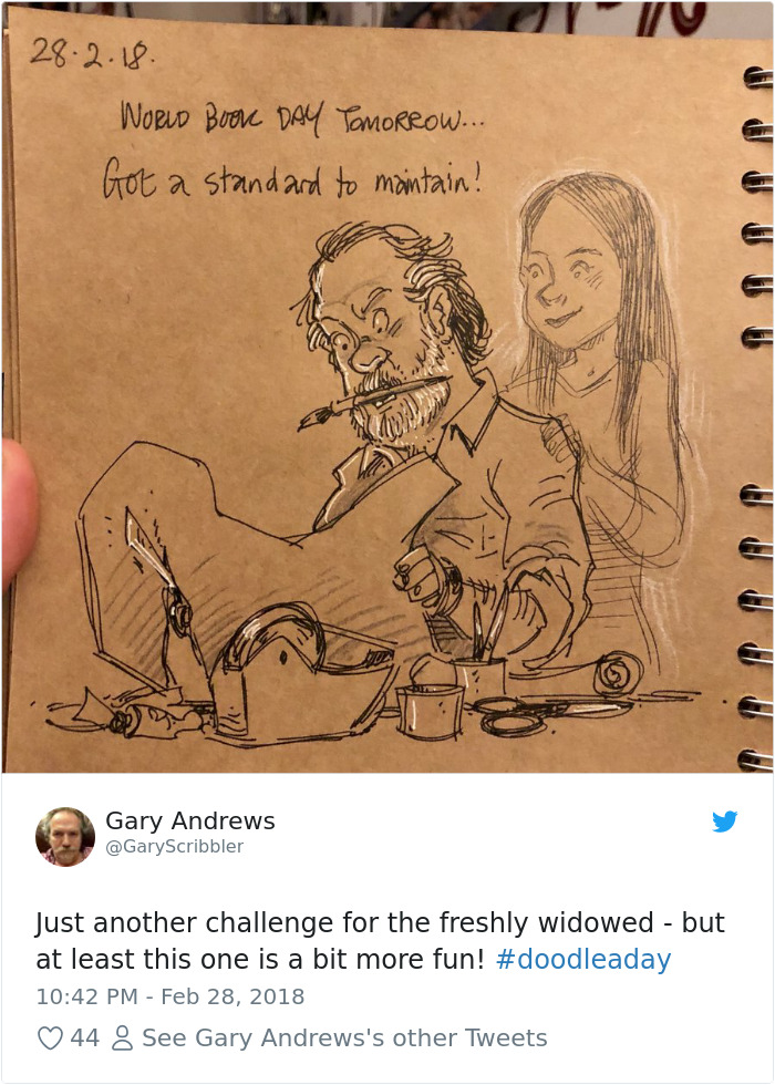 Disney Artist Illustrates Life With Two Children After His Wife Passes Away-46