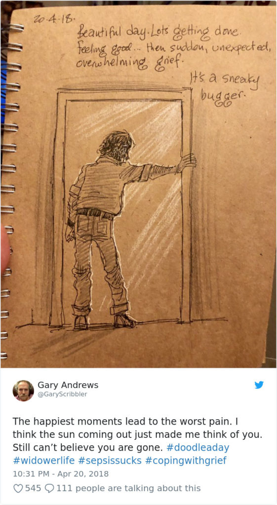 Disney Artist Illustrates Life With Two Children After His Wife Passes Away-6