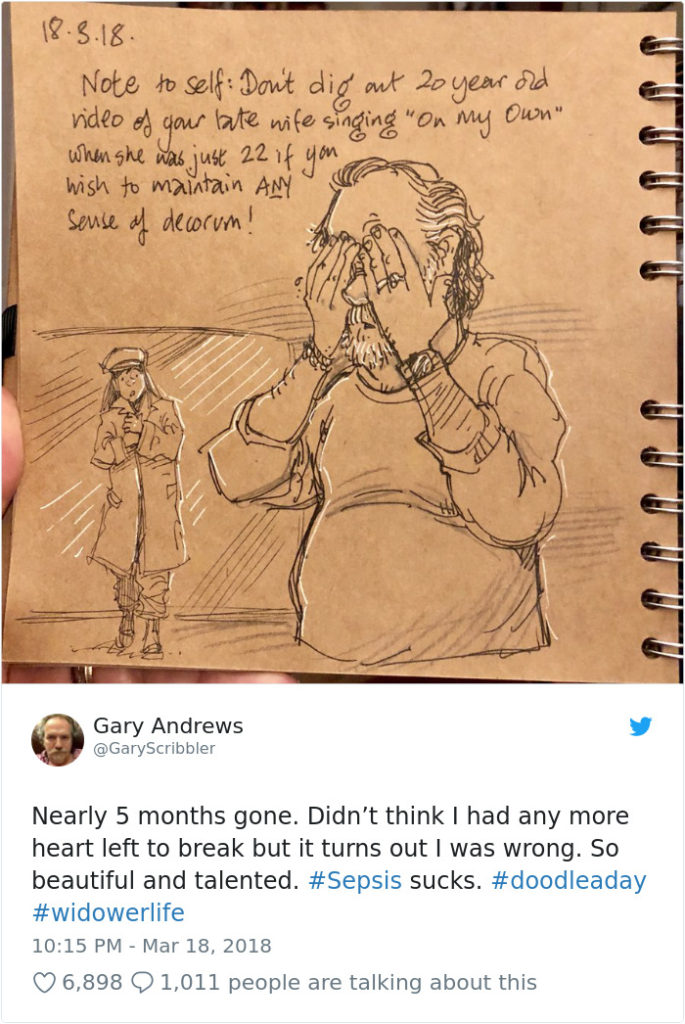 Disney Artist Illustrates Life With Two Children After His Wife Passes Away-8
