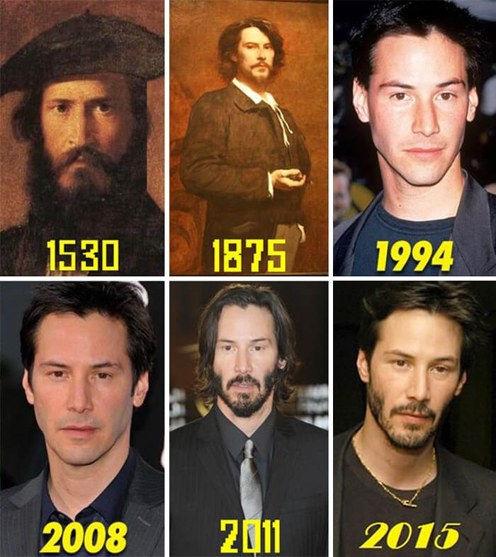 Keanu Reeves' Progress Through The Centuries